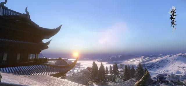 静看满山白雪皑皑 坐等顽石长满青苔