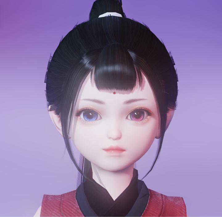 【捏脸】小萝莉之天山童姥