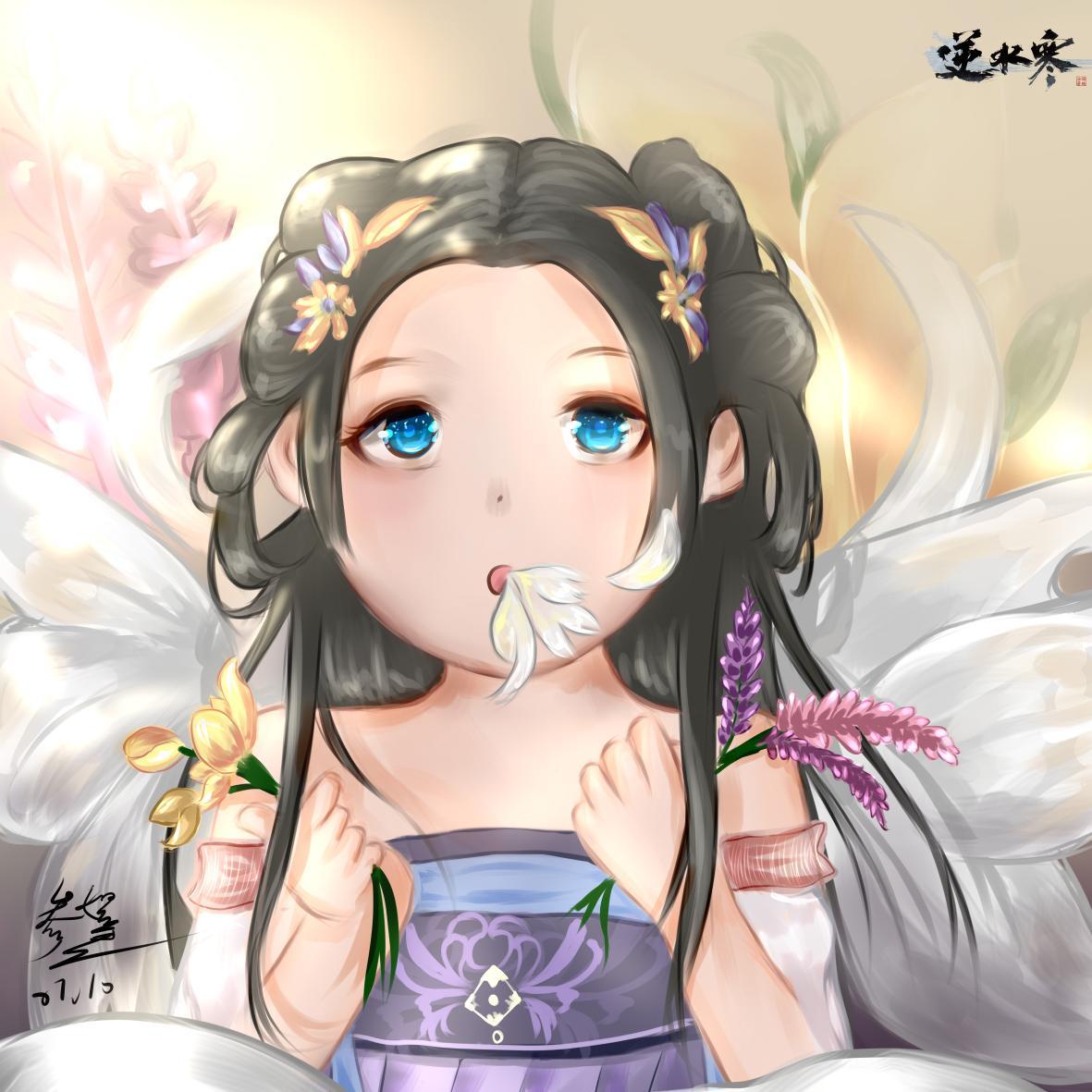 【自在门】手绘,小师妹说,她把逆水寒的春光夏花抓住了。