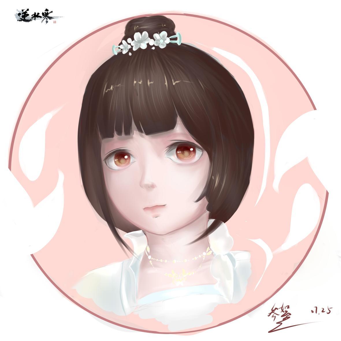 【自在门】手绘,超喜欢的新发型,和超喜欢的时装!!!简直是小仙女