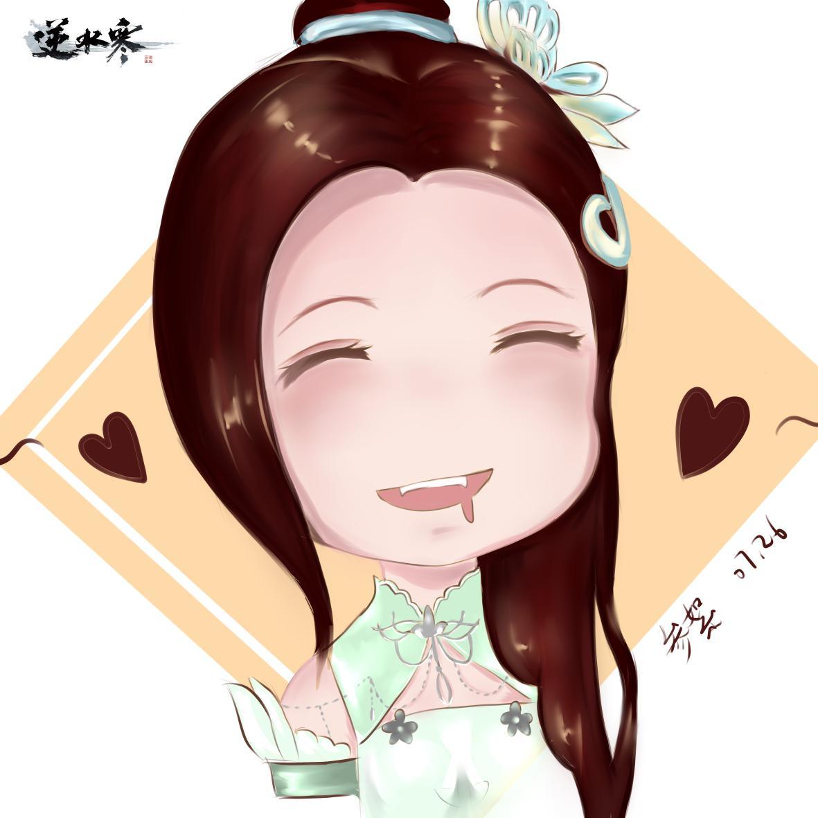【自在门】手绘动图,笑起来超可爱的新发型小姐姐(。・ω・。)ノ