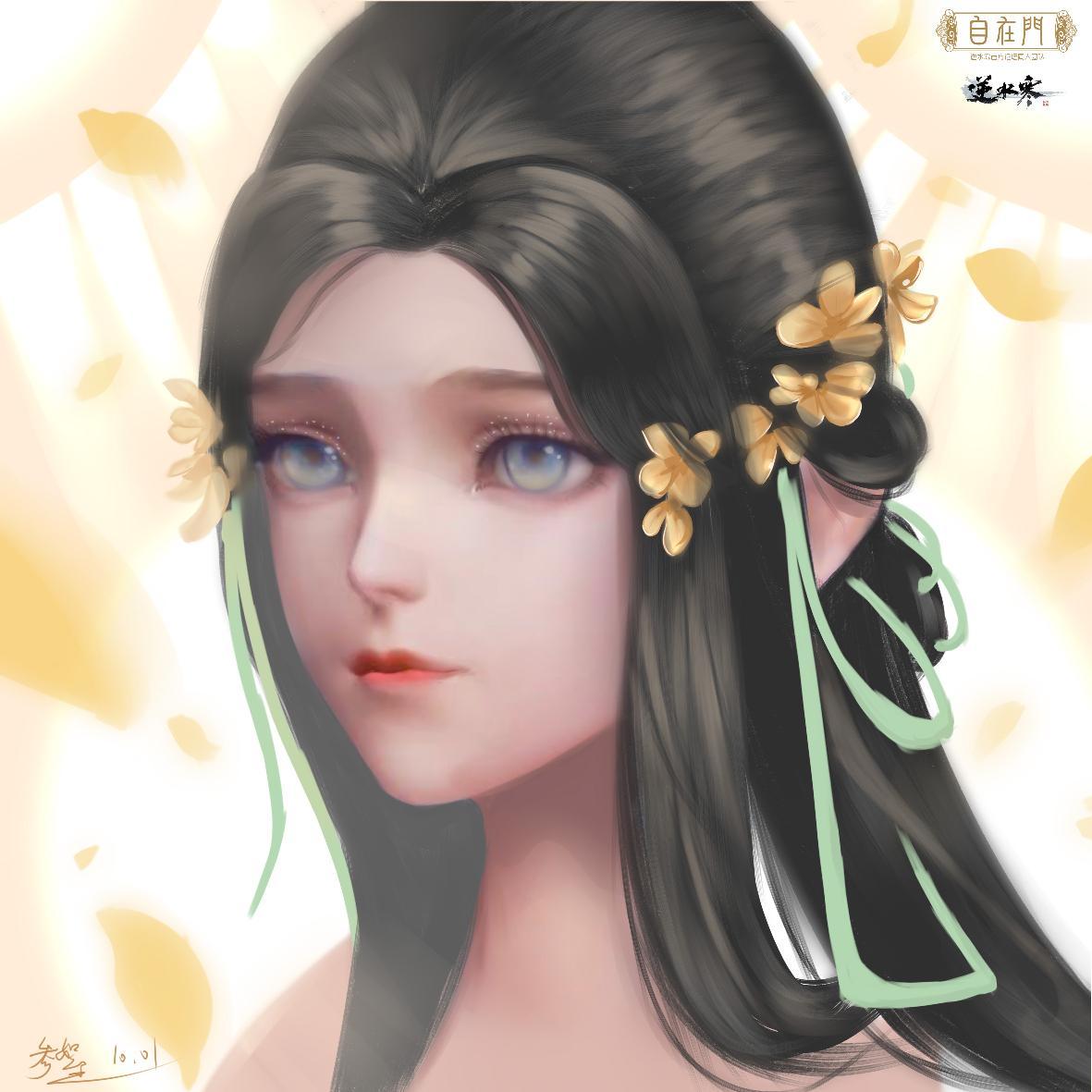 【自在门】手绘,撸一个超喜欢的发型,是你们的小女主没错了!