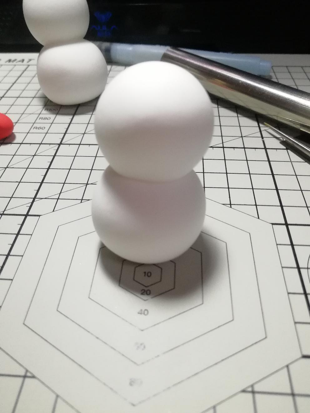 手把手教你做一个游戏同款雪人。【自在门】【九念手工】