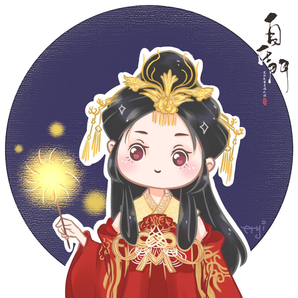 新春佳节·一起放烟花吧·虹影流霞【自在门】【手绘】