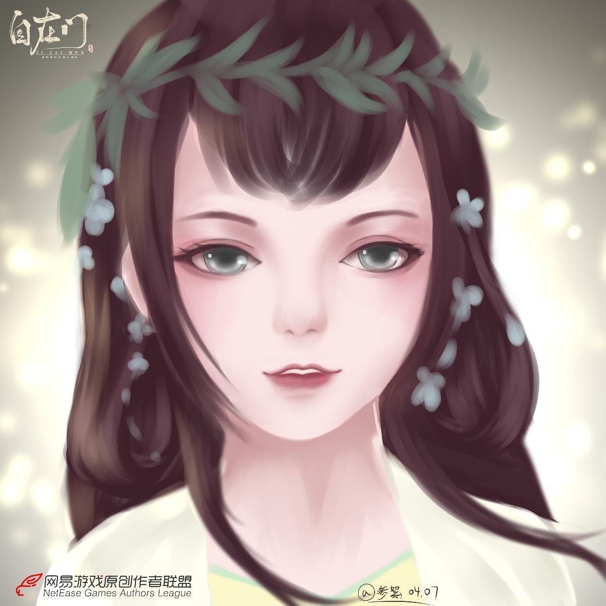 【原创作者联盟】春意浓,换上小姐姐的新头像吗?【自在门】【手绘】