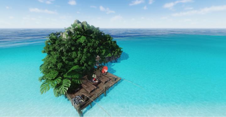 【庄园海滩】渡船去岛上度假