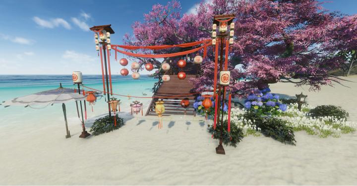 【庄园海滩】浪漫的沙滩餐厅-杏海楼